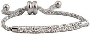 المرأة الفولاذ المقاوم للصدأ تشيكوسلوفاكيا كريستال سحر سوار أفضل تصميم أساور الأزياء والمجوهرات والاكسسوارات