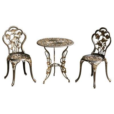 Tavoli E Sedie In Ferro Battuto Per Giardino.Balcone In Tre Pezzi Per Esterno In Alluminio Pressofuso A