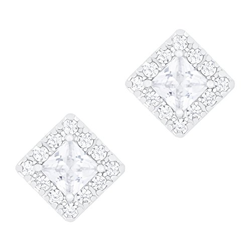 ORROUS & CO Legacy Collection 18K Gold Plated Solitaire Cubic Zirconia Stud Earrings, (18k Gold Plated Solitaire)