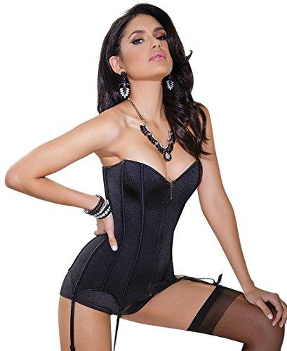 Coquette 3728 Women's Fully Boned Stretch Knit Corset - Medium - Black (Coquette Corsets)