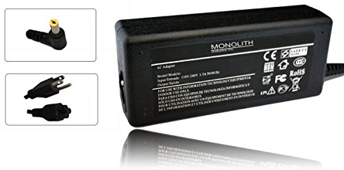 Monolith Industry 65W AC Adapter for Acer Aspire E5-471G-53XG; Aspire E5-471-59RT; Aspire E5-471-64WR; Aspire E5-571G-536E; Aspire E5-571G-520X; Aspire E5-551G-F1EW; Aspire E5-551G-T5TW Supply Cord