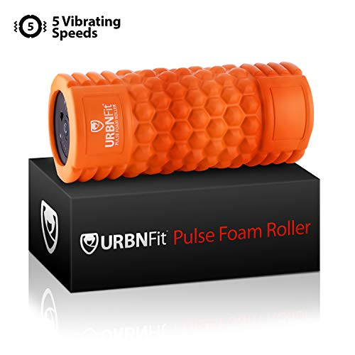 URBNFit Vibrating Foam Roller 5-Speed Massage & Exercise Body Roller - Deep Tissue Trigger Point Performance, Back Muscle Recovery - Rechargeable, Electric