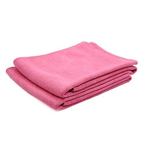 DealMux 2pcs 60cm x 30cm suave microfibra Inicio Alquiler de toallas de limpieza Detallando tela de color rosa: Amazon.es: Coche y moto