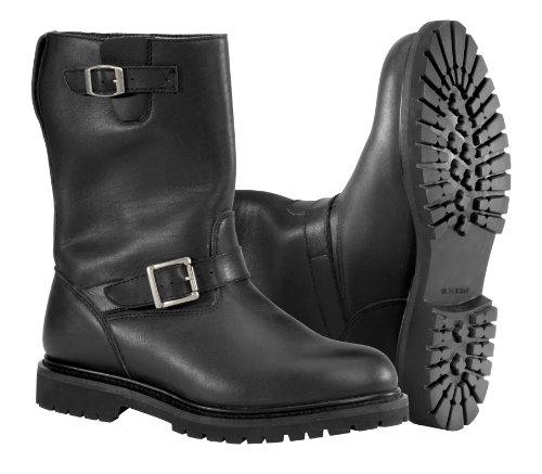 NEW RIVER ROAD MENS BOULEVARD LEATHER WATERPROOF BOOTS, BLACK, US-12 (River Road Boots)