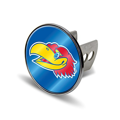 - Rico NCAA Kansas Jayhawks Laser Cut Metal Hitch Cover, Large, Silver