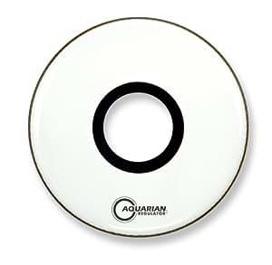 Aquarian Drumheads RPT20WH Regulator White 20-inch Bass Drum Head, gloss white