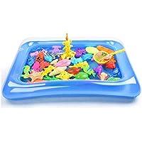 28 قطعة من العاب الاستحمام للاطفال لصيد الاسماك، العاب مغناطيسية تطفو على الماء، لعبة حوض سباحة قابل للنفخ وحوض…
