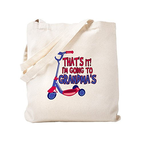 CafePress - Going To Grandma's - Natural Canvas Tote Bag, Cloth Shopping Bag