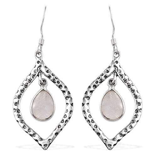 Rose quartz and sun drop earrings