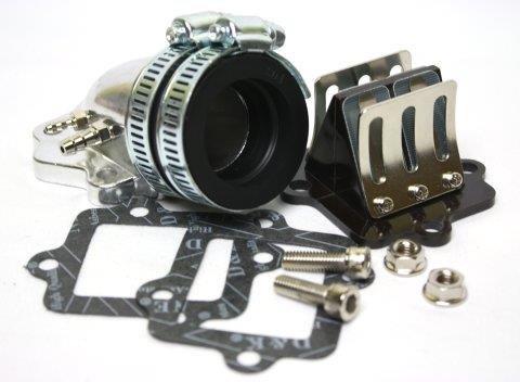 Ansaugstutzen Racing 28mm inkl. Membranblock fü r z.B. Aerox, Nitro, SR50 usw. Citomerx 2T