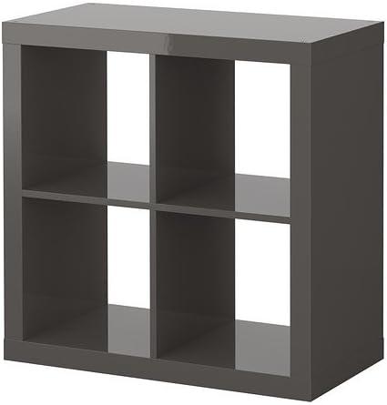 IKEA EXPEDIT - Estantería, gris de alto brillo - 79x79 cm ...