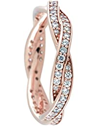 infinity ring pandora. twist of fate ring, pandora rose \u0026 clear cz 180892cz-54, 7 us infinity ring pandora