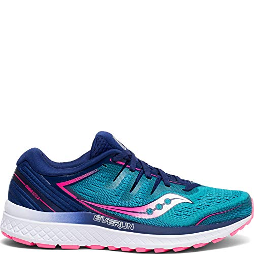 Saucony S10464-3 Women's Guide ISO 2, Teal/Pink, 7