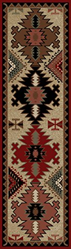Rug Empire Rustic Lodge Southwestern Area Rug, 2'3″x7'7″ For Sale