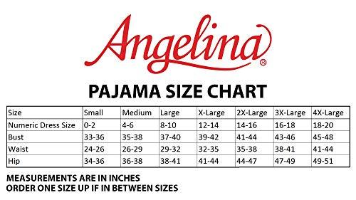 Angelina Women's Cozy Fleece Pajama Set, PJ56_L