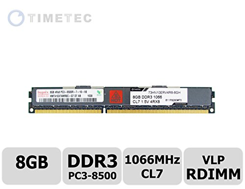 Vlp Server Memory (Timetec Hynix  8GB DDR3 1066MHz PC3-8500 Registered ECC Very Low Profile VLP 1.5V CL7 4Rx8 Quad Rank 240 Pin RDIMM Server Memory Ram Module Upgrade (Server Only, Not for Desktop/Laptop) (8GB))