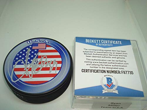 (Ryan Miller Autographed Signed Memorabilia Team U.S.A. Hockey Puck Autographed Signed Memorabilia - Beckett Authentic)