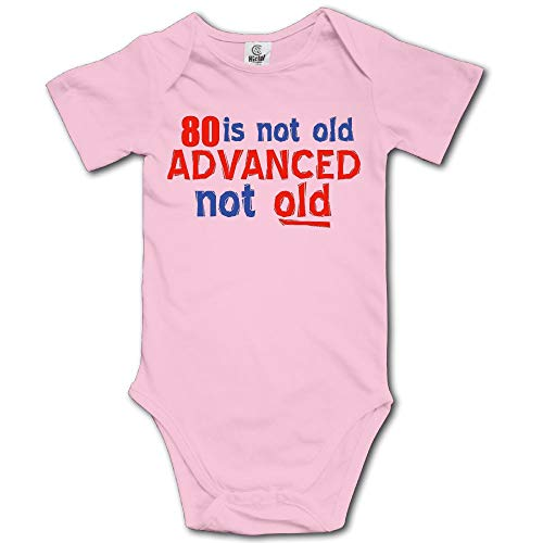 Mkajkkok 80 is Not Old Unisex Baby Rompers Jumpsuit
