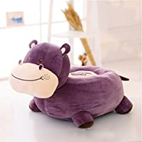 MeMoreCool Cute Hippo lazy Plush Sofa,Preschool Cartoon Animal Chair,Children Chair Seat,Decorative Sofa,Gifts for Festival,Purple