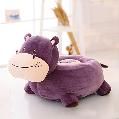 MeMoreCool Cute Hippo lazy Plush Sofa,Preschool Cartoon Animal Chair,Children Chair Seat,Decorative Sofa,Gifts for (Hippo Pillow Chair)