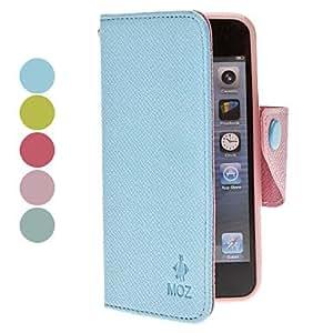 Procesamiento de dos días -Lichee patrón pu estuche de cuerpo completo con cierre magnético para el iphone 5/5s (colores surtidos),Pink