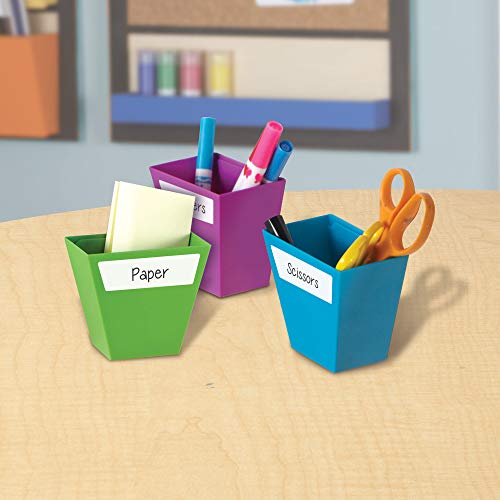 Learning Resources Create-a-Space Magnetic Storage Boxes, Bright Colors