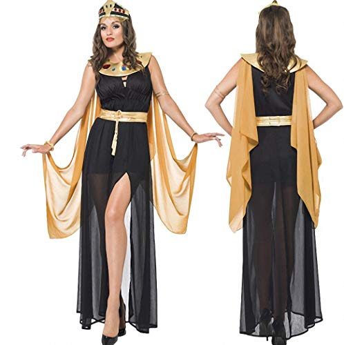 Ytwysj Women's Sexy Egyptian Queen Cleopatra Costume Adult Fancy Party Halloween Cosplay Costume Dress -