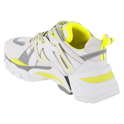 sneakers Ash Flash Pelle In Flashnubuck White Yellow dwZSvwqn