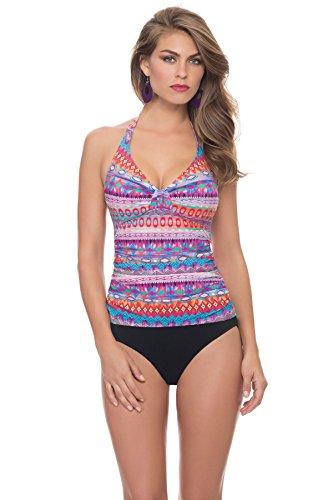 Profile by Gottex Women's Santa Fe Underwire Halter Bra Tankini Top Multi - Fashion Santa Fe Outlet