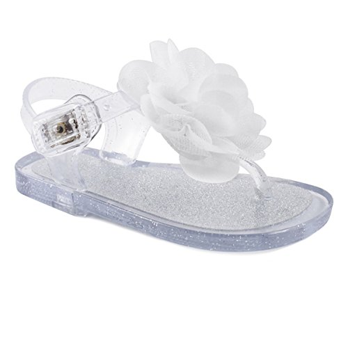Wee Kids Baby-Girls Sandals Jelly Shoes (Infant Shoes Baby Shoes) Girls Summer Sandals Clear Silver Sz 4 - Jelly Water Shoe