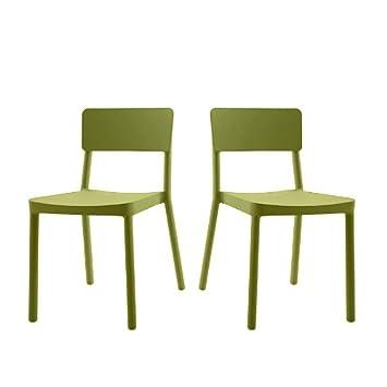 resol Lote DE 4 x sillas Lisboa apilable sho1032014-DESKandSIT ...