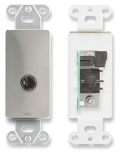 2 RDL DS-1/4F 1/4'' Headphone Jack on Decora Wall Plate-Stainless Steel