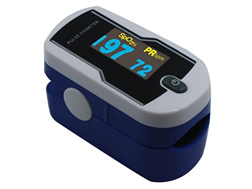 Concord Sapphire Deluxe Dual Color OLED Display Fingertip Pulse Oximeter with 6-Way Display, Carrying Case and Lanyard (Concord Case)