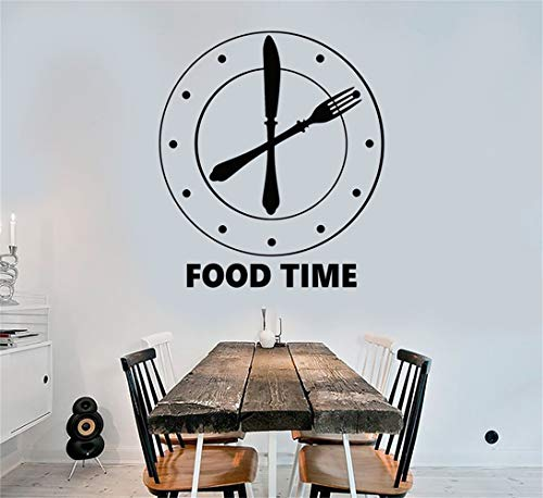 Bluegiants Vinyl Wall Statement Family DIY Decor Art Stickers Home Decor Wall Art Clock Food Time Kitchen Funny for -