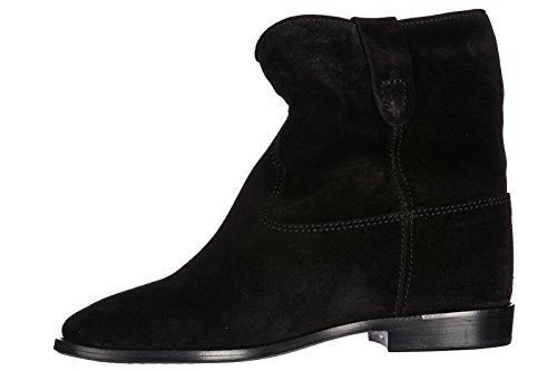 MARANT Booties Suede Black crisi Ankle Women's ISABEL Boots zw7xqR7S