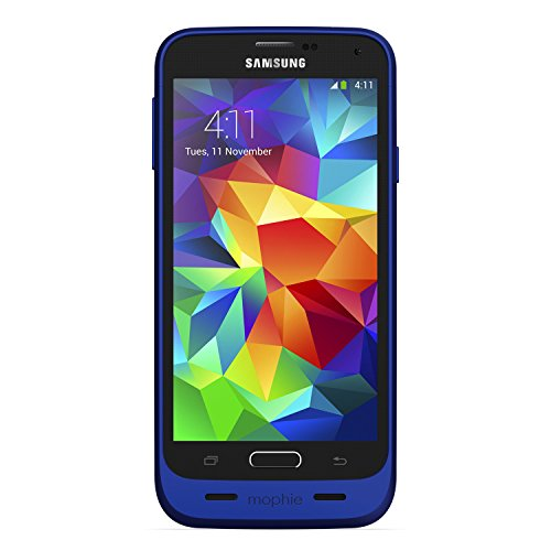 Mophie Juice Pack Rechargable Battery Case for Samsung Galaxy S5 (3000 mAh) - Blue