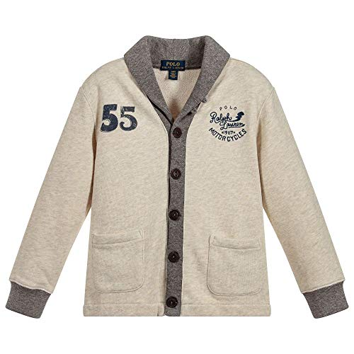(Ralph Lauren Polo Big Boys French Terry Cardigan (Large 14-16))