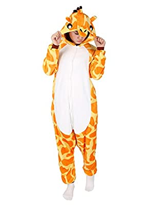 Animal Pajamas for Women Men Adult Onesie Unisex Sleepwear Halloween Cosplay Costume