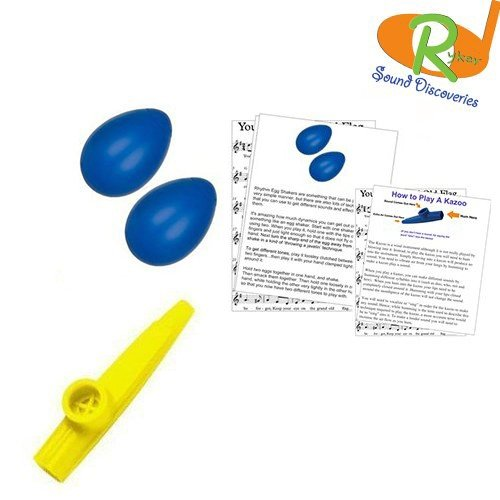 Kazoo Kids Grand - Ryker Sound Discoveries Mommy & Me Learn to Play Educational Music Pack - Rhythm Shakers/Kazoo (You'Re A Grand Ol' Flag) #RSDMMBSY15
