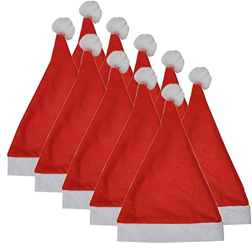 - Dressin Happy Christmas Hat,Party Santa Hat Red and Blue Cap for Santa Claus Costume(1PC/ 2PC/ 5PcOptional)