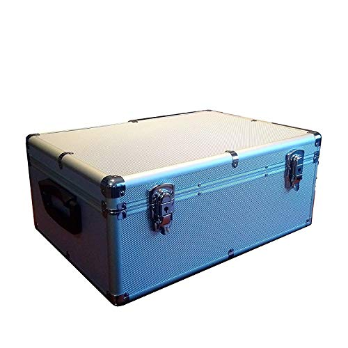 MegaDisc Silver 510 CD DVD Blu-Ray Aluminum Like Storage Case Box with Hanger Sleeves