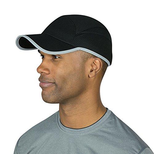 (TrailHeads Flashback 360 Reflective Run Cap - Black/Silver)