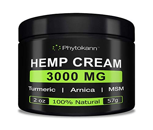 Hemp Cream for Pain Relief (3000mg)-Natural Hemp Oil for Pain Relief with Turmeric, Arnica Gel, MSM for Back Pain Relief, Muscle Pain Relief, Sciatica Pain Relief, Arthritis & Knee Pain, Inflammation