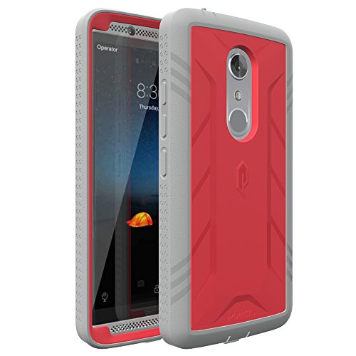 ZTE AXON 7 Case, POETIC Revolution Series [Premium Rugged][Heavy Duty] Complete Protection Hybrid Case w/Built-In Screen Protector for ZTE AXON 7 (2016) Pink/Gray