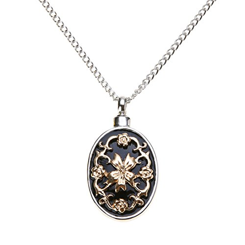 Urn Vintage (Silver Urn Cremation Pendant Ash Holder Mini Keepsake Long Memorial Necklace NEW)