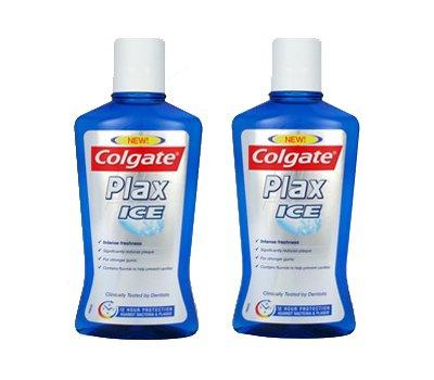 2x Colgate Plax Ice Mundspülung / Mundwasser gegen Bakterien und Zahnbelag/ je 500ml