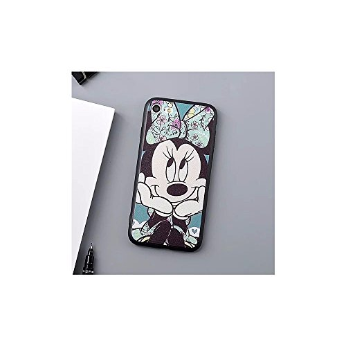 Cute Mickey Minnie Mouse TPU Silicone Phone Case Back Cover For i phone 7 Plus 8 Plus (I Phone 7 Plus or 8 Plus / Minnie)