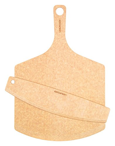 Epicurean 707-181201cut Pizza Peel/cutter, Wood, Brown, 18'' X 12'' (Pack of 4)