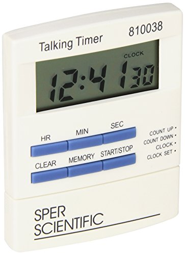Sper Scientific 810038 Talking Lab Countdown Timer