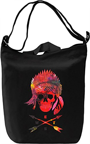 Red Skull Borsa Giornaliera Canvas Canvas Day Bag| 100% Premium Cotton Canvas| DTG Printing|